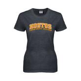 Ladies Dark Heather T Shirt-Hostos Community College Arch