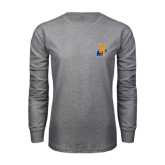 Grey Long Sleeve T Shirt-Hostos H w/Alligator