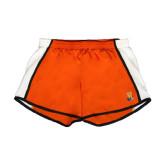 Ladies Orange/White Team Short-Hostos H w/Alligator