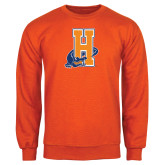 Community College Orange Fleece Crew-Hostos H w/Alligator