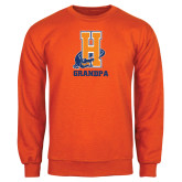Community College Orange Fleece Crew-Grandpa