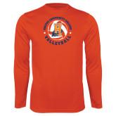Community College Performance Orange Longsleeve Shirt-Hostos Volleyball