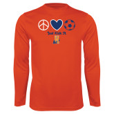 Community College Performance Orange Longsleeve Shirt-Hostos Soccer
