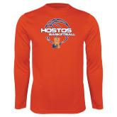 Community College Performance Orange Longsleeve Shirt-Hostos Basketball