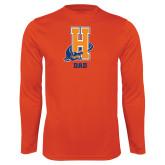 Community College Performance Orange Longsleeve Shirt-Dad