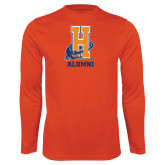 Community College Performance Orange Longsleeve Shirt-Alumni