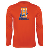 Community College Performance Orange Longsleeve Shirt-Grandpa