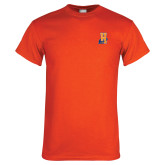 Orange T Shirt-Hostos H w/Alligator