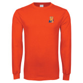 Orange Long Sleeve T Shirt-Hostos H w/Alligator