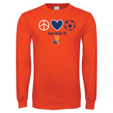 Orange Long Sleeve T Shirt-Hostos Soccer