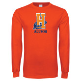 Orange Long Sleeve T Shirt-Alumni