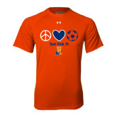 Under Armour Orange Tech Tee-Hostos Soccer