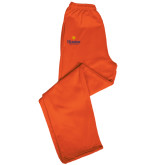 Champion PowerBlend Orange Fleece Open Bottom Pant-Hostos Community College w/Sun
