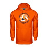 Community College Under Armour Orange Performance Sweats Team Hoodie-Hostos Volleyball