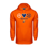 Community College Under Armour Orange Performance Sweats Team Hoodie-Hostos Soccer