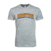 Next Level SoftStyle Heather Grey T Shirt-Hostos Community College Arch