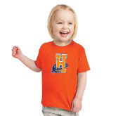 Toddler Orange T Shirt-Hostos H w/Alligator
