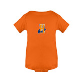 Community College Orange Infant Onesie-Hostos H w/Alligator