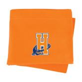 Community College Orange Sweatshirt Blanket-Hostos H w/Alligator
