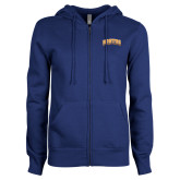 Community College ENZA Ladies Royal Fleece Full Zip Hoodie-Hostos Community College Arch