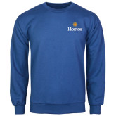 Community College Royal Fleece Crew-Hostos w/Sun
