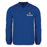 Community College V Neck Royal Raglan Windshirt-Hostos w/Sun