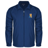Community College Full Zip Royal Wind Jacket-Hostos H w/Alligator