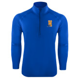 Community College Sport Wick Stretch Royal 1/2 Zip Pullover-Hostos H w/Alligator
