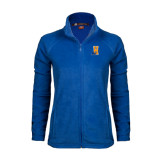 Ladies Fleece Full Zip Royal Jacket-Hostos H w/Alligator