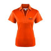 Community College Ladies Orange Performance Fine Jacquard Polo-Hostos w/Sun