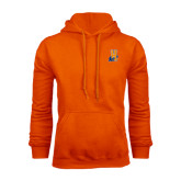 Community College Orange Fleece Hoodie-Hostos H w/Alligator