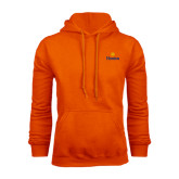 Community College Orange Fleece Hoodie-Hostos w/Sun