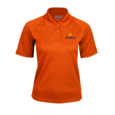Community College Ladies Orange Textured Saddle Shoulder Polo-Hostos w/Sun