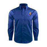Community College Red House French Blue Long Sleeve Shirt-Hostos H w/Alligator