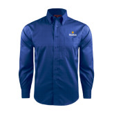 Community College Red House French Blue Long Sleeve Shirt-Hostos w/Sun