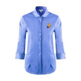 Community College Ladies Red House Light Blue 3/4 Sleeve Shirt-Hostos H w/Alligator