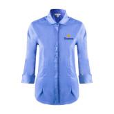 Community College Ladies Red House Light Blue 3/4 Sleeve Shirt-Hostos w/Sun