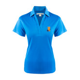 Community College Ladies Light Blue Performance Fine Jacquard Polo-Hostos H w/Alligator
