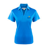 Community College Ladies Light Blue Performance Fine Jacquard Polo-Hostos w/Sun
