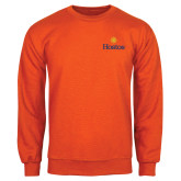 Community College Orange Fleece Crew-Hostos w/Sun