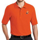 Community College Orange Easycare Pique Polo-Hostos H w/Alligator