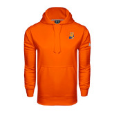 Community College Under Armour Orange Performance Sweats Team Hoodie-Hostos H w/Alligator