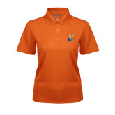 Community College Ladies Orange Dry Mesh Polo-Hostos H w/Alligator