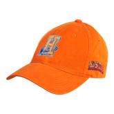 Community College Orange Twill Unstructured Low Profile Hat-Hostos H w/Alligator