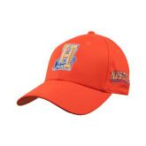 Community College Orange Heavyweight Twill Pro Style Hat-Hostos H w/Alligator