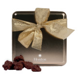 Decadent Chocolate Clusters Gold Medium Tin-Hostos Community College w/Sun Stacked Engraved