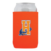 Community College Neoprene Orange Can Holder-Hostos H w/Alligator