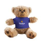 Plush Big Paw 8 1/2 inch Brown Bear w/Royal Shirt-Hostos Community College w/Sun