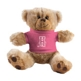 Plush Big Paw 8 1/2 inch Brown Bear w/Pink Shirt-Hostos H w/Alligator