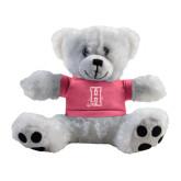 Plush Big Paw 8 1/2 inch White Bear w/Pink Shirt-Hostos H w/Alligator